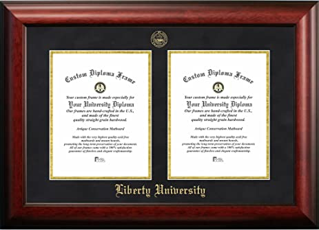 Amazon.com - Liberty University Double Degree Diploma Frame (8.5 x ...
