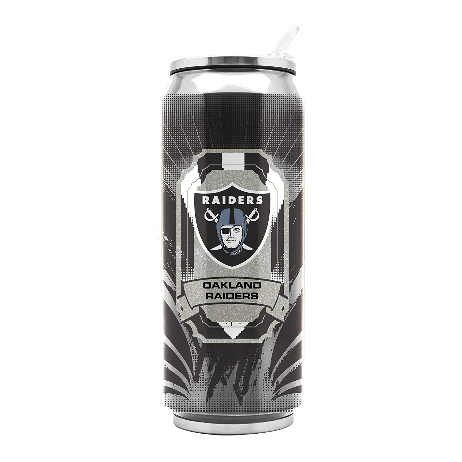 NFL Oakland Raiders 16oz Double Wall Stainless Steel Thermocan