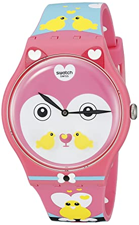 ebf509e0fd60 Swatch Women s SUOZ190 Originals Analog Display Swiss Quartz Multi-Color  Watch