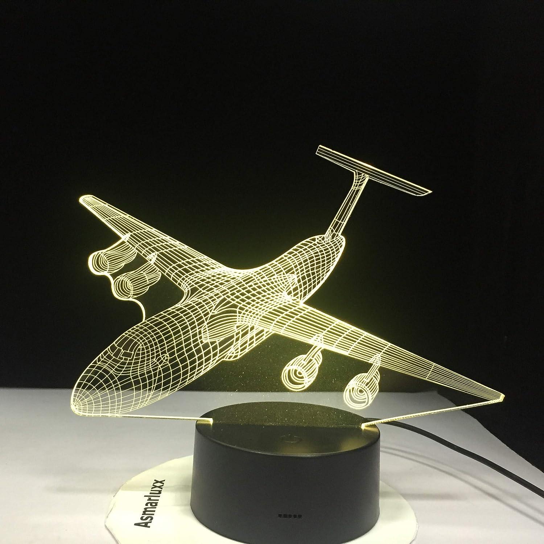 El Color de la luz Nocturna del avión Puede Cambiar la lámpara de Mesa del avión luz del sueño del bebé Dormitorio decoración de la cabecera niños