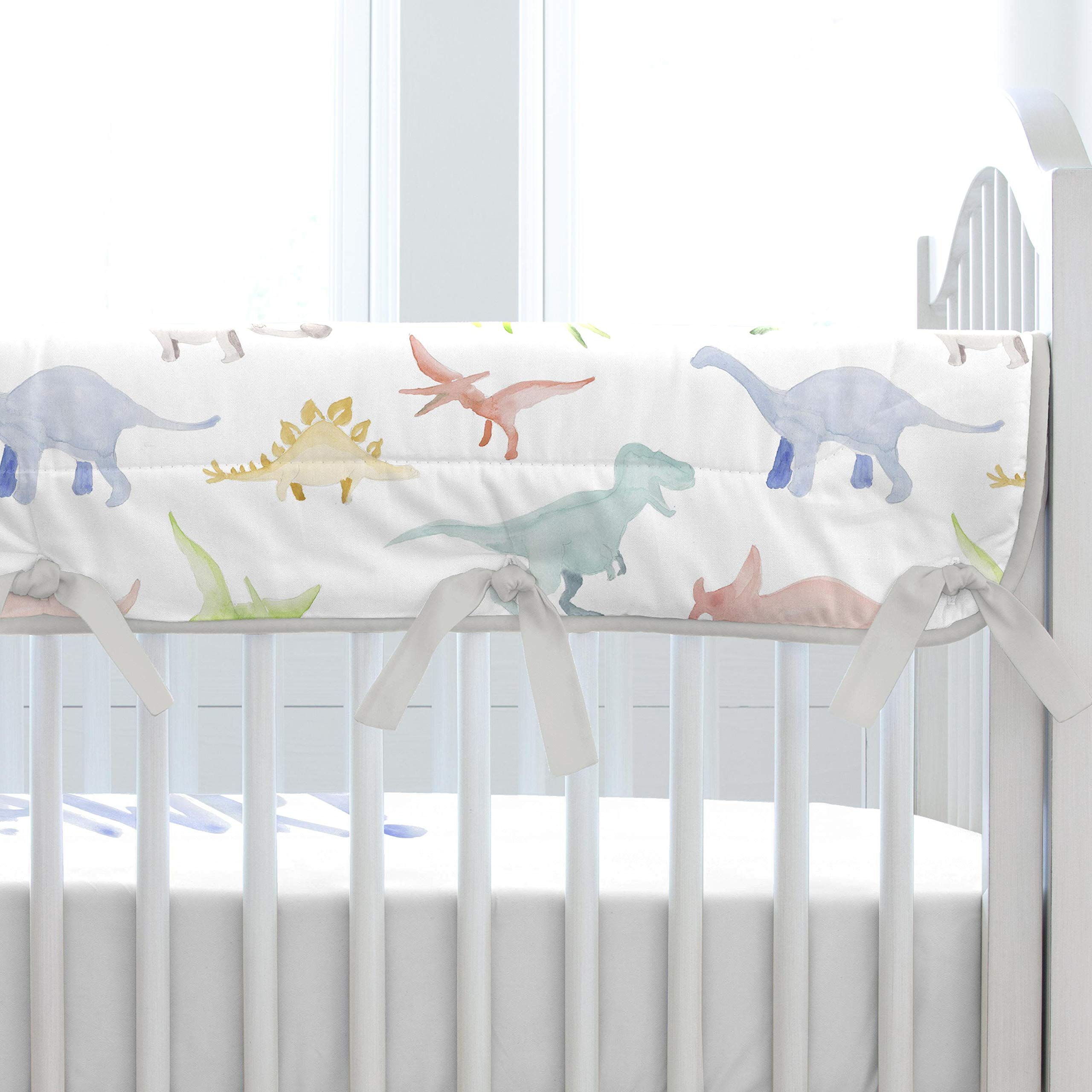 Carousel Designs Watercolor Dinosaurs Crib Rail Cover by Carousel Designs