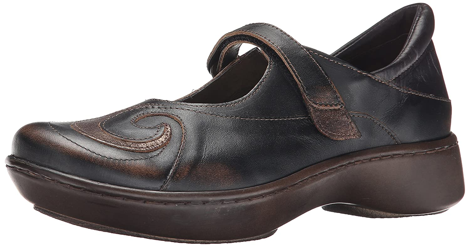 NAOT Women's Sea Mary Jane Flat B00TQAPNT8 39 EU/7.5-8 M US|Volcanic Brown Leather/Bronze Shimmer Suede