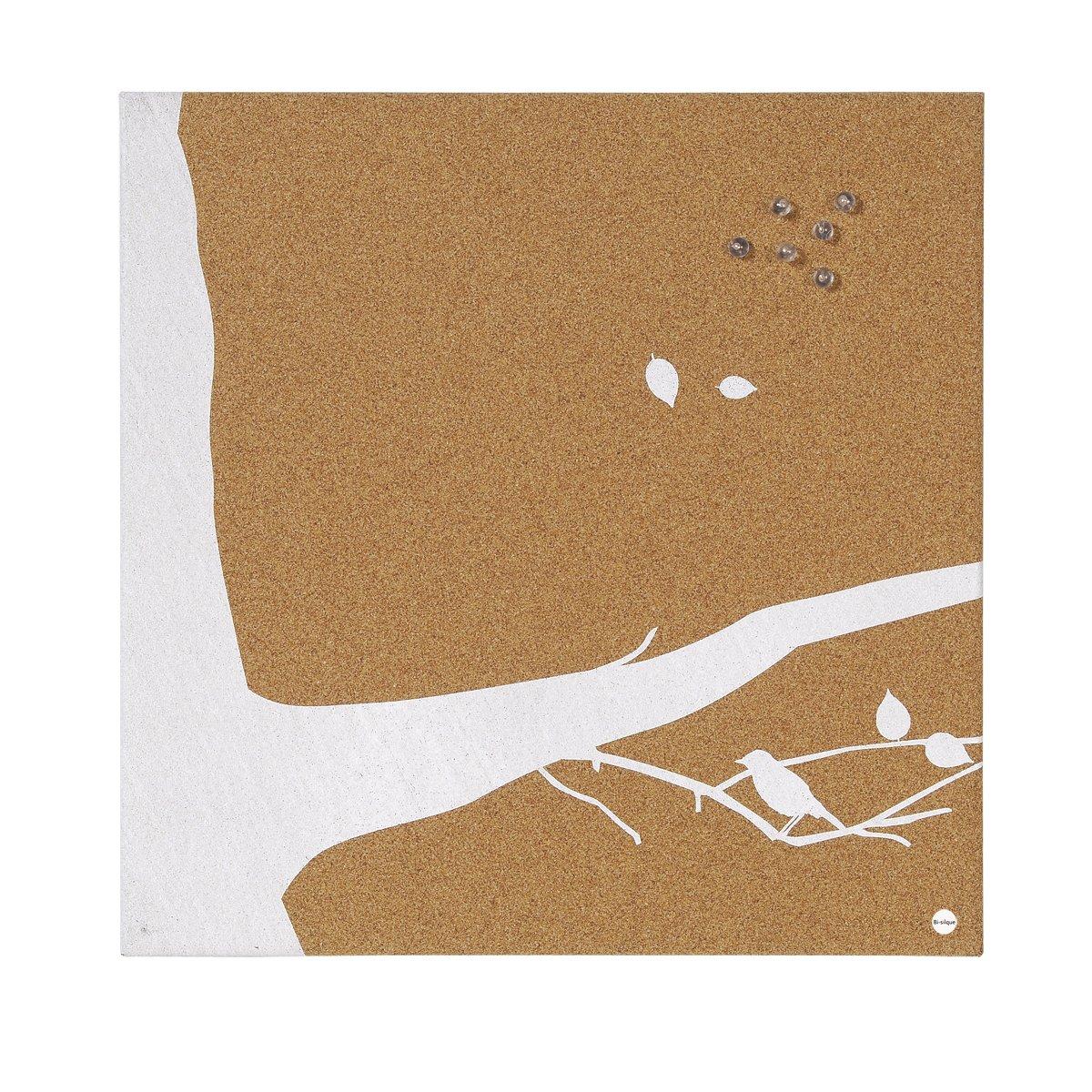 Swallow SF751268397 Bi-Office Cork Notice Board 40 x 40 cm Natural