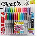 Sharpie Color Burst Permanent Markers, Fine Point, Assorted Colors, 2 Packs of 24 Markers