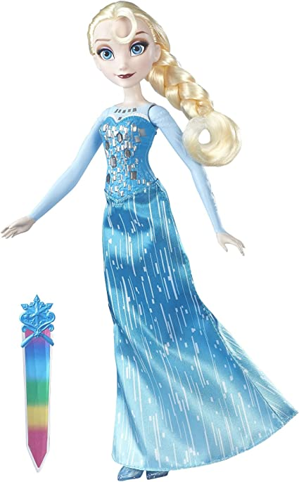 Frozen Crystal Krystal Princess Ice Queen Elsa Blue Dress Child Girls Costume