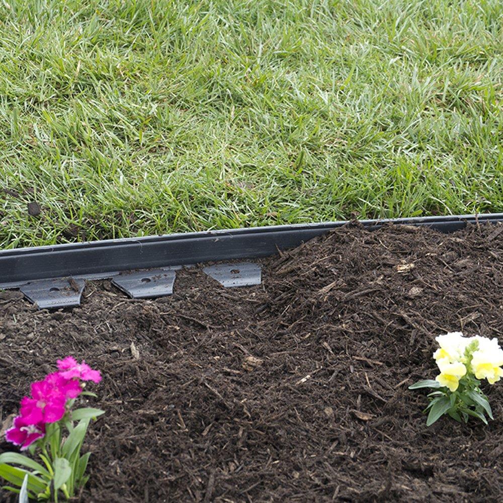 Front Yard Edging: EasyFlex No-Dig Plastic Landscape Edging Kit 40Ft Lawn