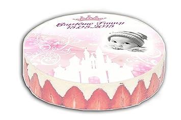 Plaque Pate A Sucre Pour Gateau Theme Princesse Blanc Et Rose