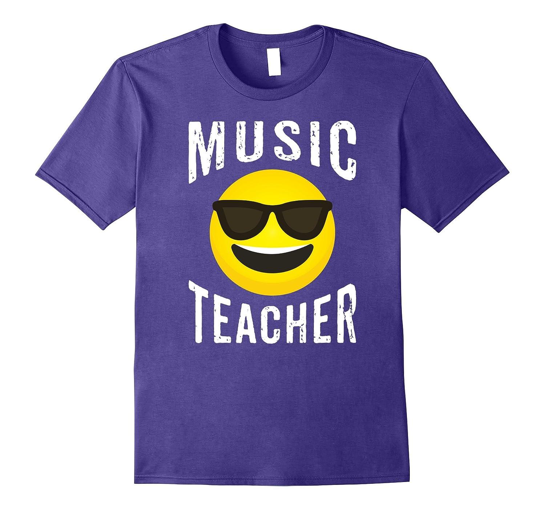 Music Teacher Shirt - Cool Emoji Music Teacher T-shirt-T-Shirt