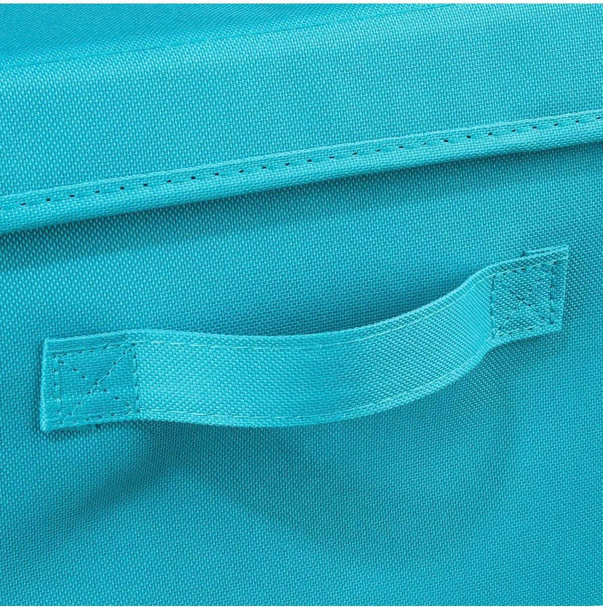 Panier /à linge en tissu Lettres Bleu