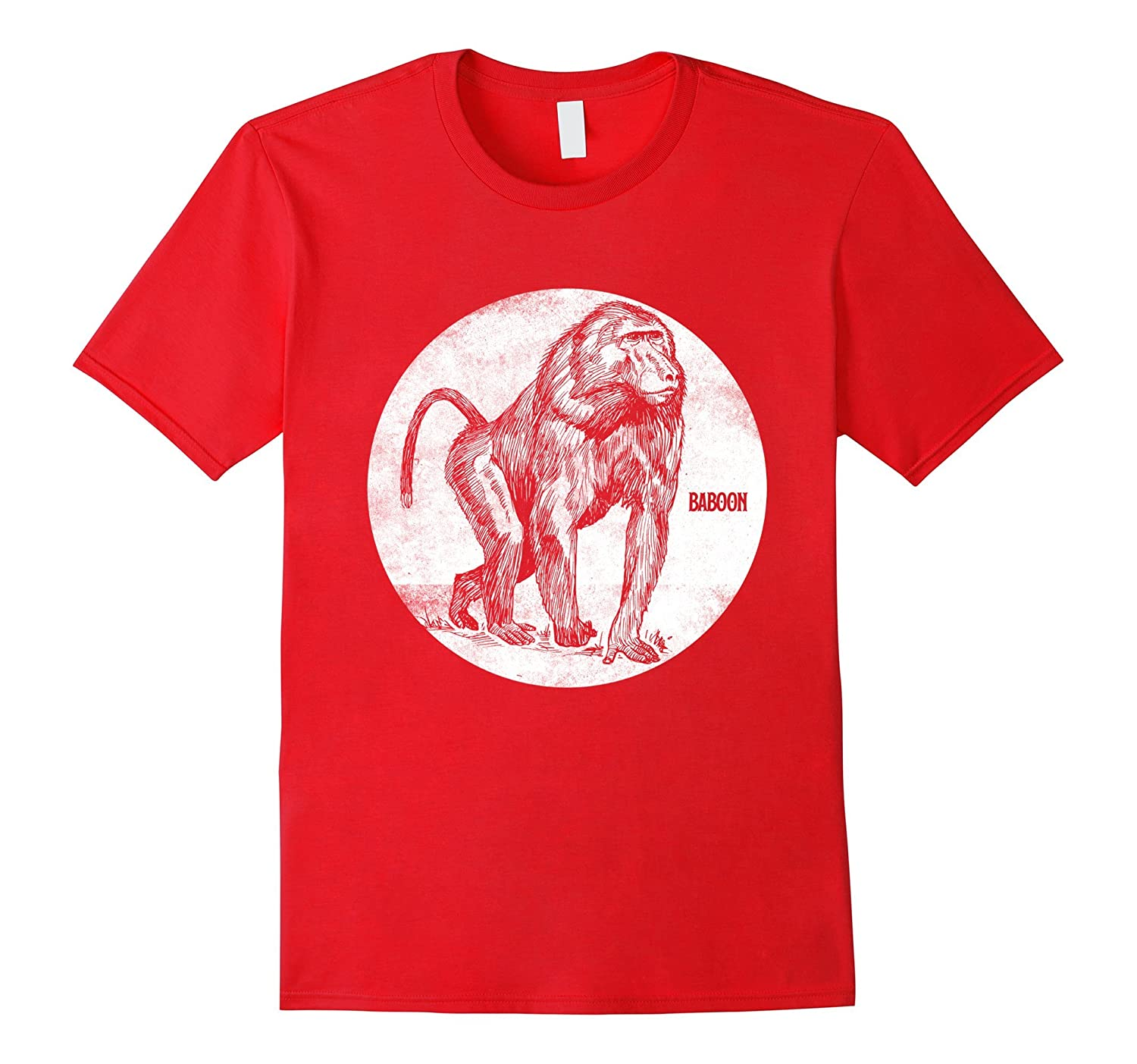 Baboon Spirit Animal T-Shirt Monkey Silhouette Tee Gifts-TJ