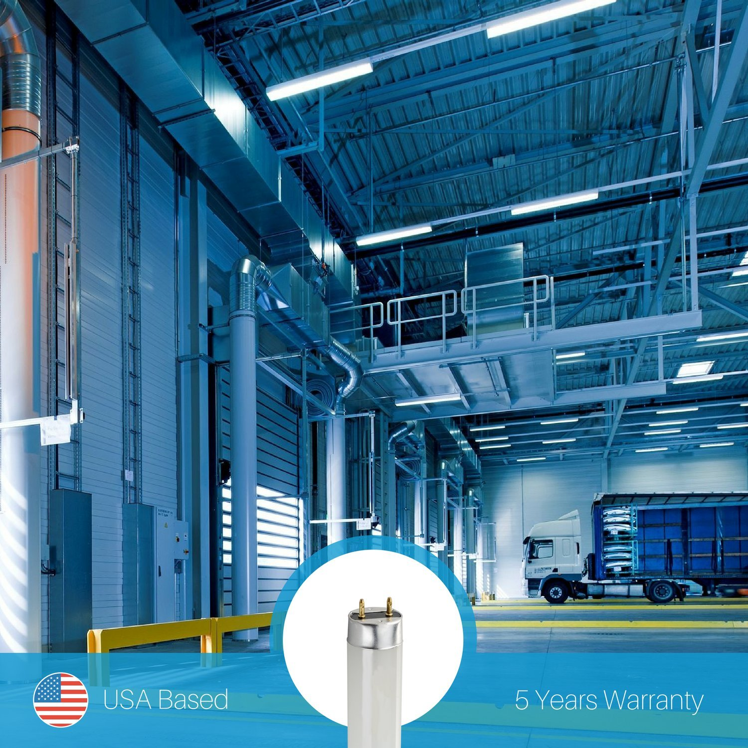 4FT 32W Fluorescent Equivalent Lifespan: 50,000 Hours 1800LM 15W UL-Listed Works With Electronic Ballasts 16-Pack ARCHIPELAGO LED T8 5000K