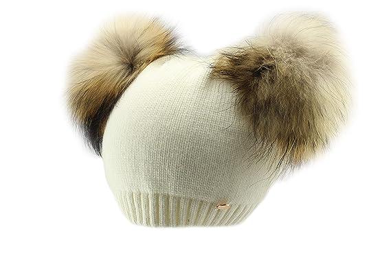 Amazon.com  Jamiks Nina Girls Winter Pom Pom Beanie Hat  Clothing 709384b946b0