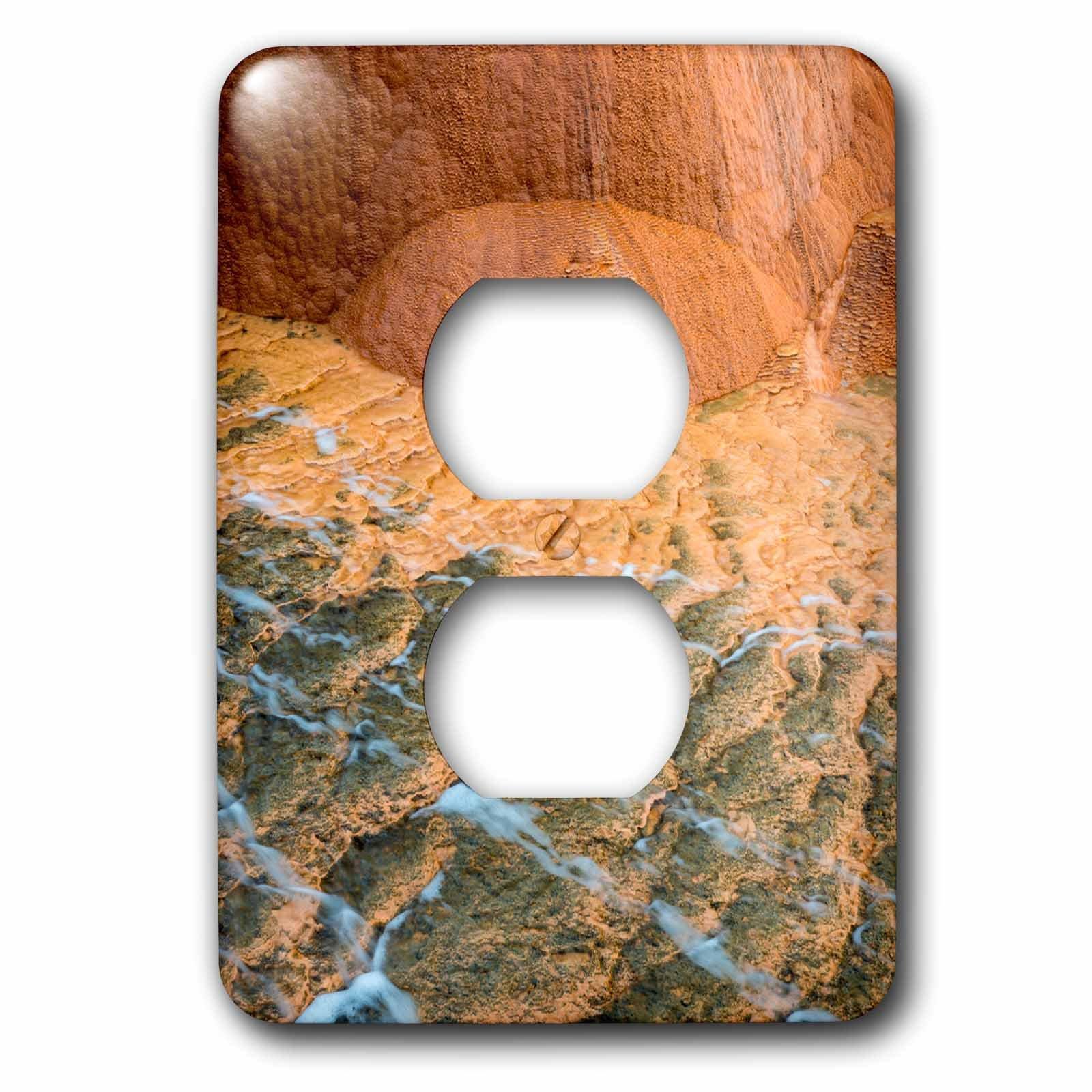3dRose lsp_260312_6 USA, Utah. Designs Made by Travertine Deposits At Crystal Geyser Plug Outlet Cover, Multicolor