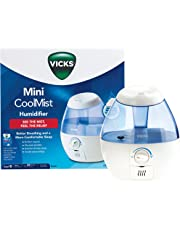 Vicks Mini Cool Mist Humidifier | Better Breathing and a More Comfortable Sleep, Ultra Quiet Operation, No Filters Required, Auto Shut Off When Empty