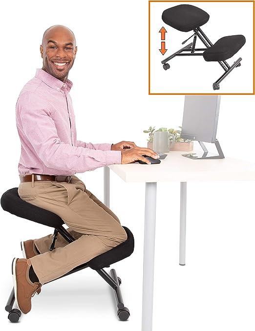 ProErgo Pneumatic Ergonomic Kneeling Chair - Pneumatic Height Adjustments