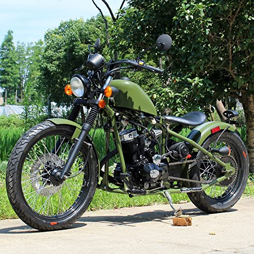 Amazon com : DONGFANG DF250RTB 250cc Antique Style Motorcycle 5