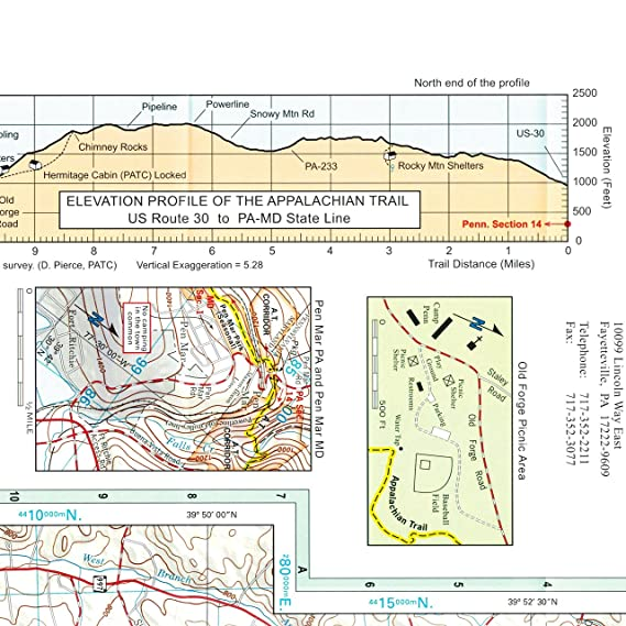 Amazon.com : Appalachian Trail Conservancy ATC Map 4: US Route 30 to ...