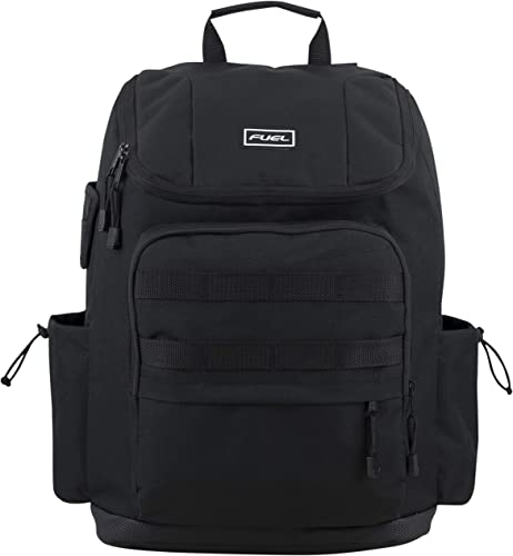 Fuel Multi-Pocket Cargo Backpack with High Capacity Top-Loader Entry New Black