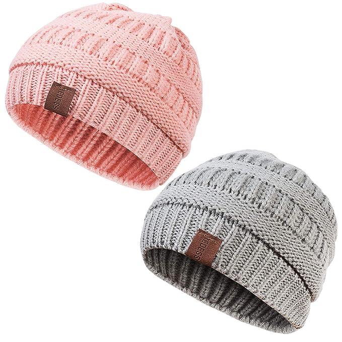 58d26bfcd53 Amazon.com  REDESS Kids Winter Warm Fleece Lined Hat