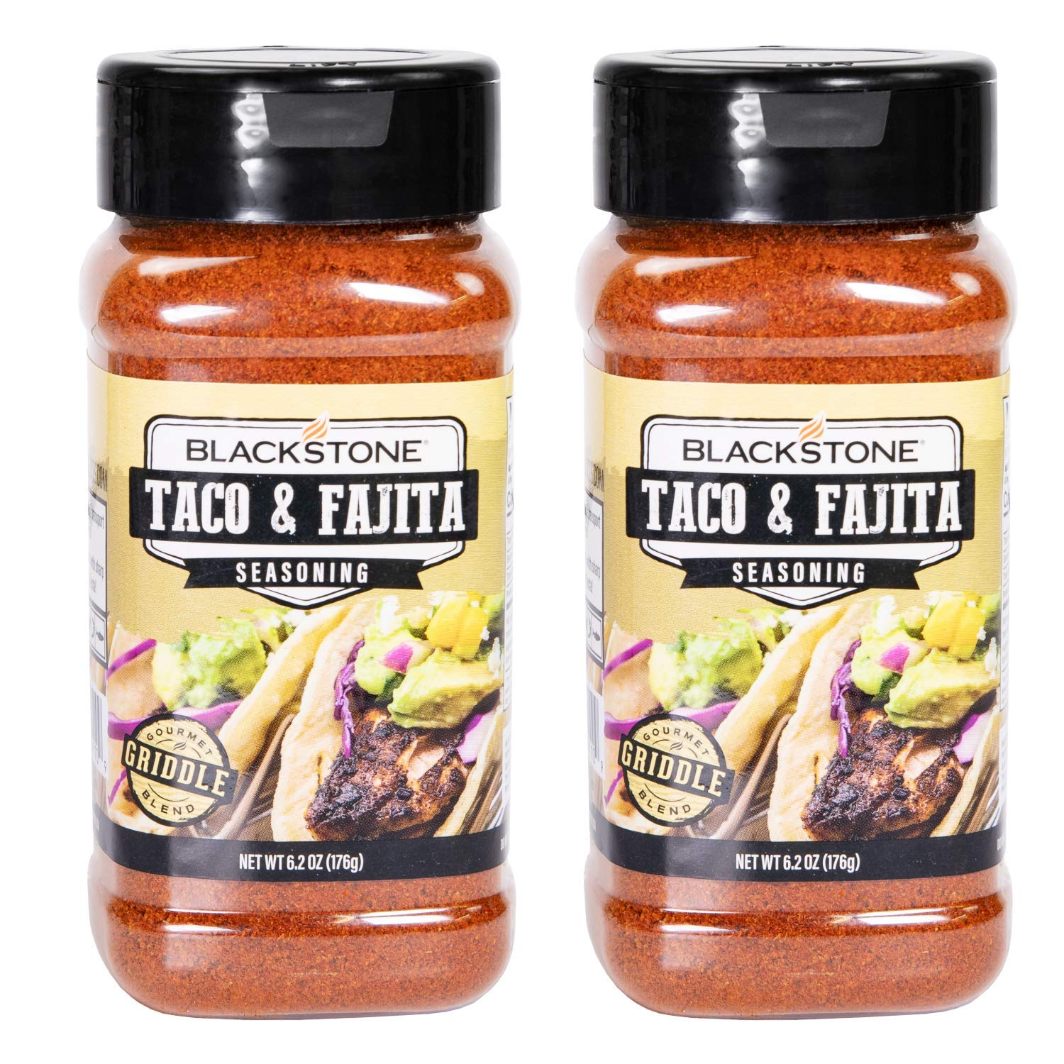 Ultimate Barbecue Spices, Gourmet Flavor Seasoning Bundle (2 Pack), Use for Grilling, Cooking, Smoking - Meat Rub, Dry Marinade, Rib Rub (Taco & Fajita, 6.2 Ounce)