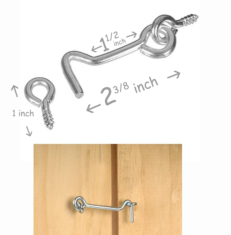 Amazon Alazco Gate Hook Eye 2 Complete Sets 2 38 Inch Wood