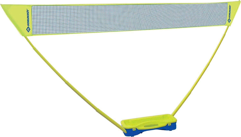 Schildkröt Funsports Set de Badminton Compact, Incluye Red, 2 Raquetas y 2 Volantes, en un Práctico Estuche de Plástico, 970992