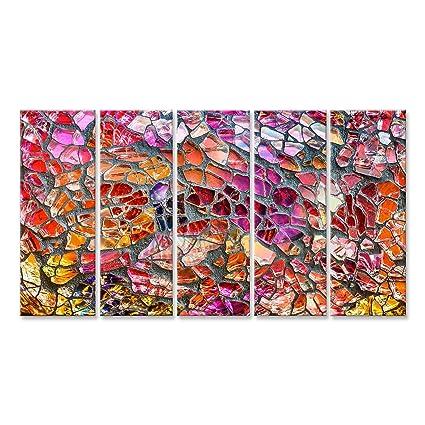 Cuadro Cuadros Arte colorido del mosaico de cristal y fondo abstracto de la pared Impresión sobre