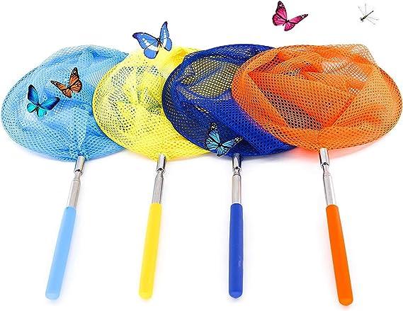 Kinder Schmetterlingsnetz Kescher Fischernetz Bug Insect Butterfly Fangnetze