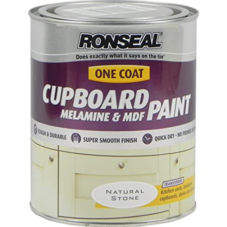 ronseal one coat cupboard paint natural stone 750ml amazon co uk