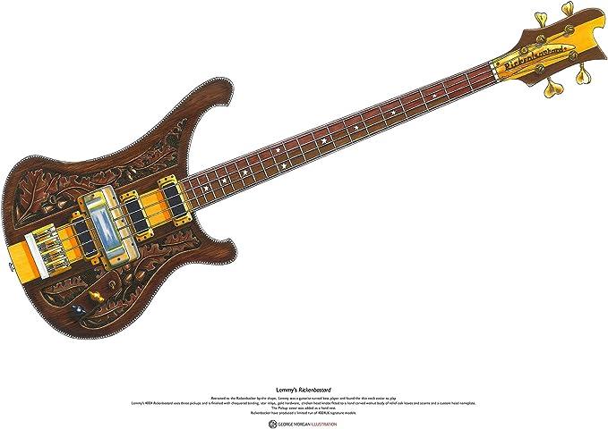 George Morgan Illustration La Guitarra Rickenbastard de Lemmy ...