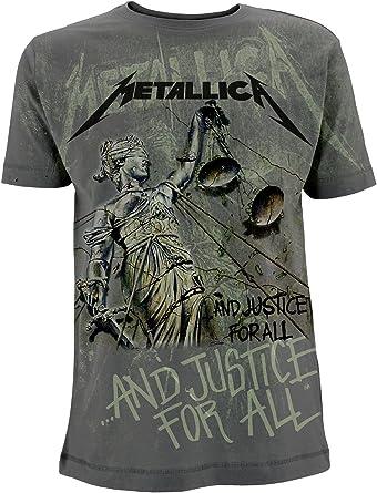 Metallica and Justice For All James Hetfield Oficial Camiseta para Hombre: Amazon.es: Ropa y accesorios