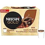 NESCAFÉ Gold Medium Roast & Ground Coffee Capsules, K-Cup Compatible Pods, 30 Capsules