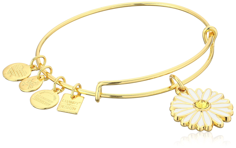 Alex and Ani Charity by Design, Daisy Shiny Gold Bangle Bracelet