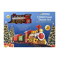 The Christmas Workshop Benross 81010 Battery Operated Christmas Train Set with Light and Sound