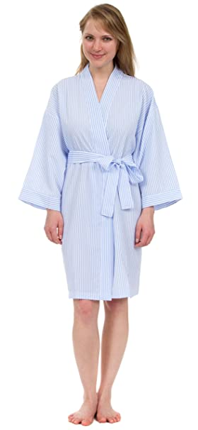 Good Prices discover latest trends women Leisureland Women's Robe, Lightweight Classic Stripe Seersucker Robes