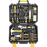 DEKO 100 Piece Home Repair Tool Set,General Household Hand Tool Kit with Plastic Tool Box Storage