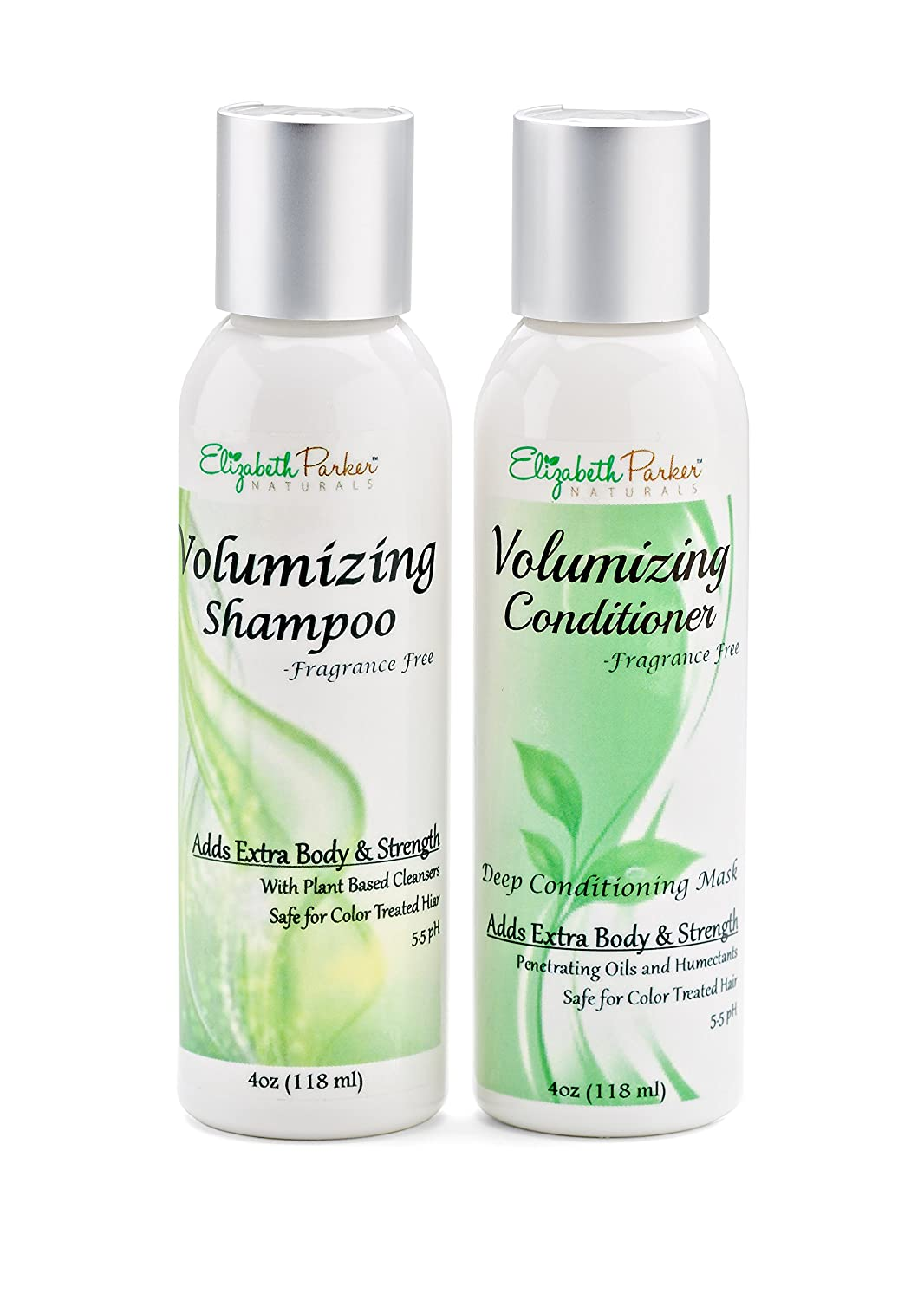Best Volumizing Shampoo and Conditioner Set for Fine Hair - Boost Volume - Promotes Hair Growth - 100% Natural and Organic - Sulfate Free and Fragrance Free - 4oz