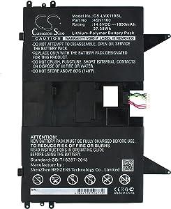 KML Battery for Lenovo 45N1100 45N1101,fit Model Lenovo Thinkpad X1 Helix Tablet PC(1850mAh / 27.38Wh,14.80V,Li-Polymer)