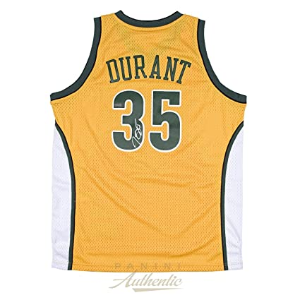 992c55b08d1 ... get kevin durant signed jersey yellow swingman open edition item panini  certified 84348 2c0ee ...