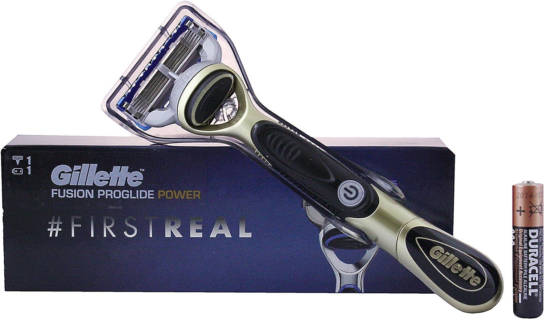 Gillette Fusion ProGlide Power afeitadora a pilas, pack: 2 x 1er ...