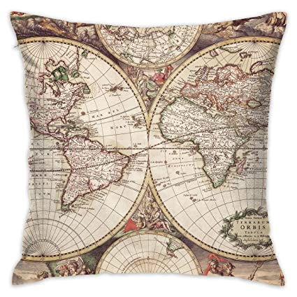 Amazoncom Bingzhao Old World Map Wallpaper 18 X 18 Inch