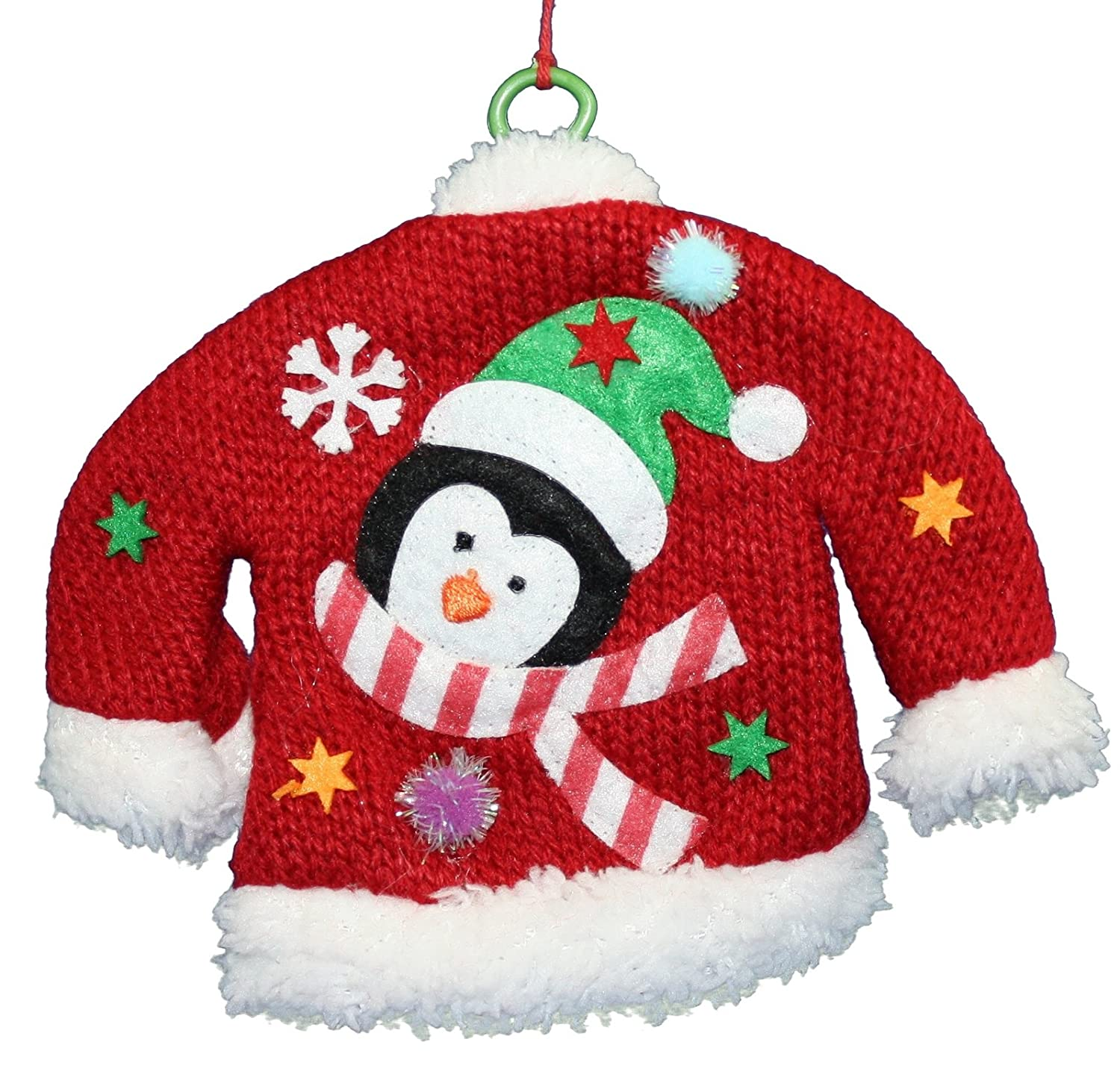 Shelburne Country Store Knitted Sweater with Wire Hanger Ornament - Penguin