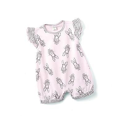 441b56bea Tesa Babe Easter Bunny Bubble Romper, Newborn & Infant Girls Cotton Playsuit,  Pink (