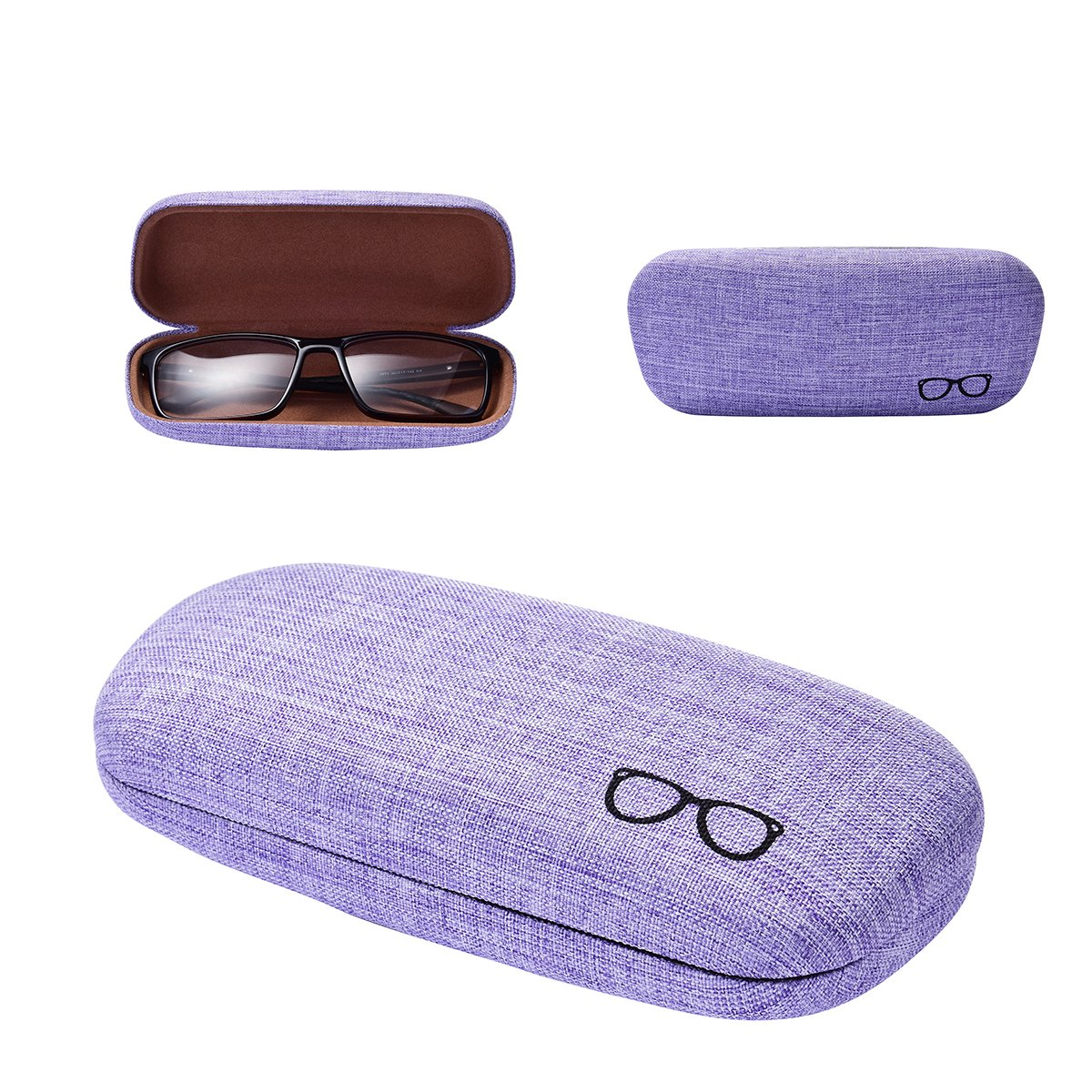 Philley Linen Fabrics Ultra-Light Hard Myopia Eyeglasses Glasses Case