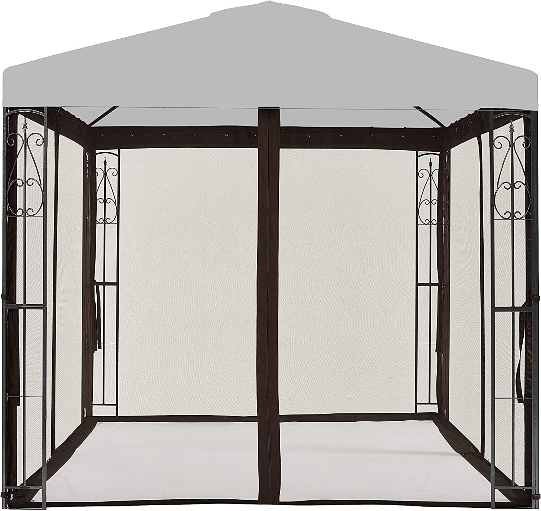 APEX GARDEN Universal 8' x 8' Gazebo Replacement Mosquito Netting (Mosquito Net Only - Brown)