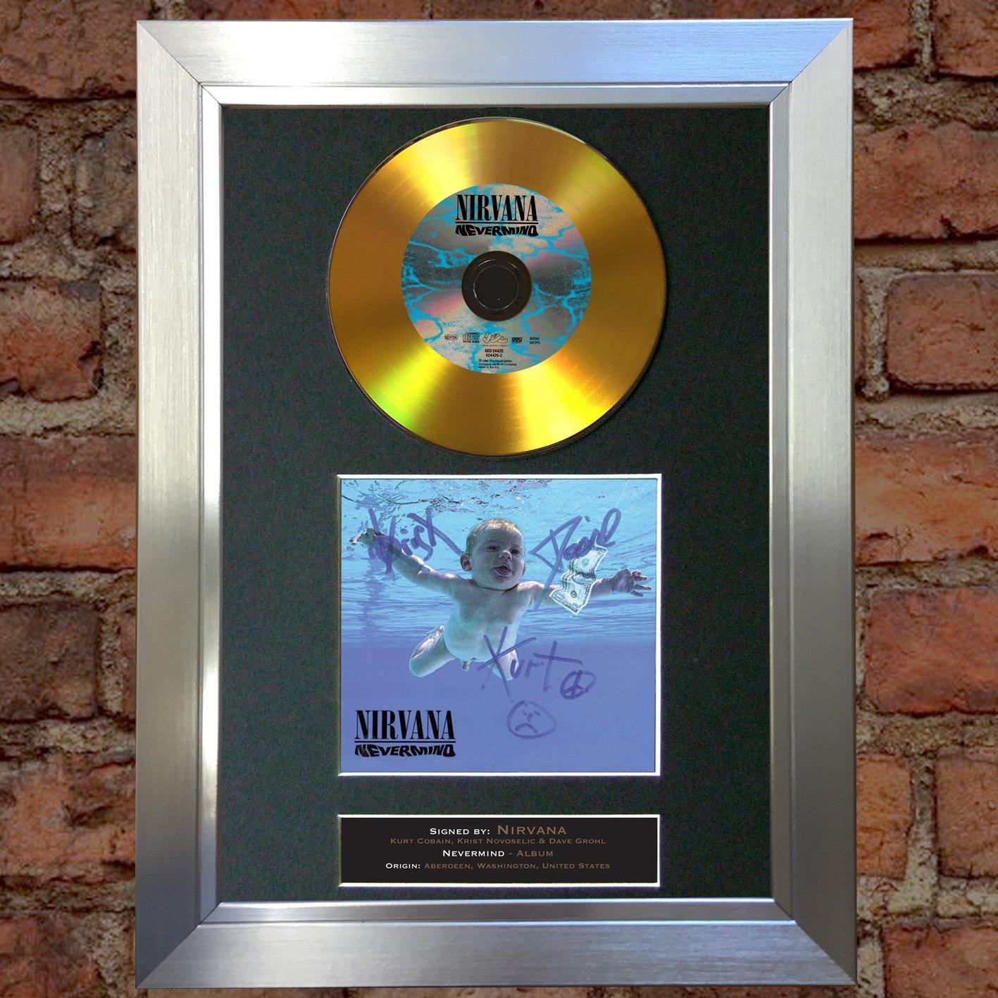Amazon.de: The Autograph Collector 81 Gold Disc Nirvana Nevermind ...
