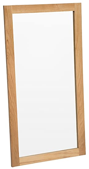 Camberley Oak Large Wall Mirror with Wooden Frame in Light Oak ...