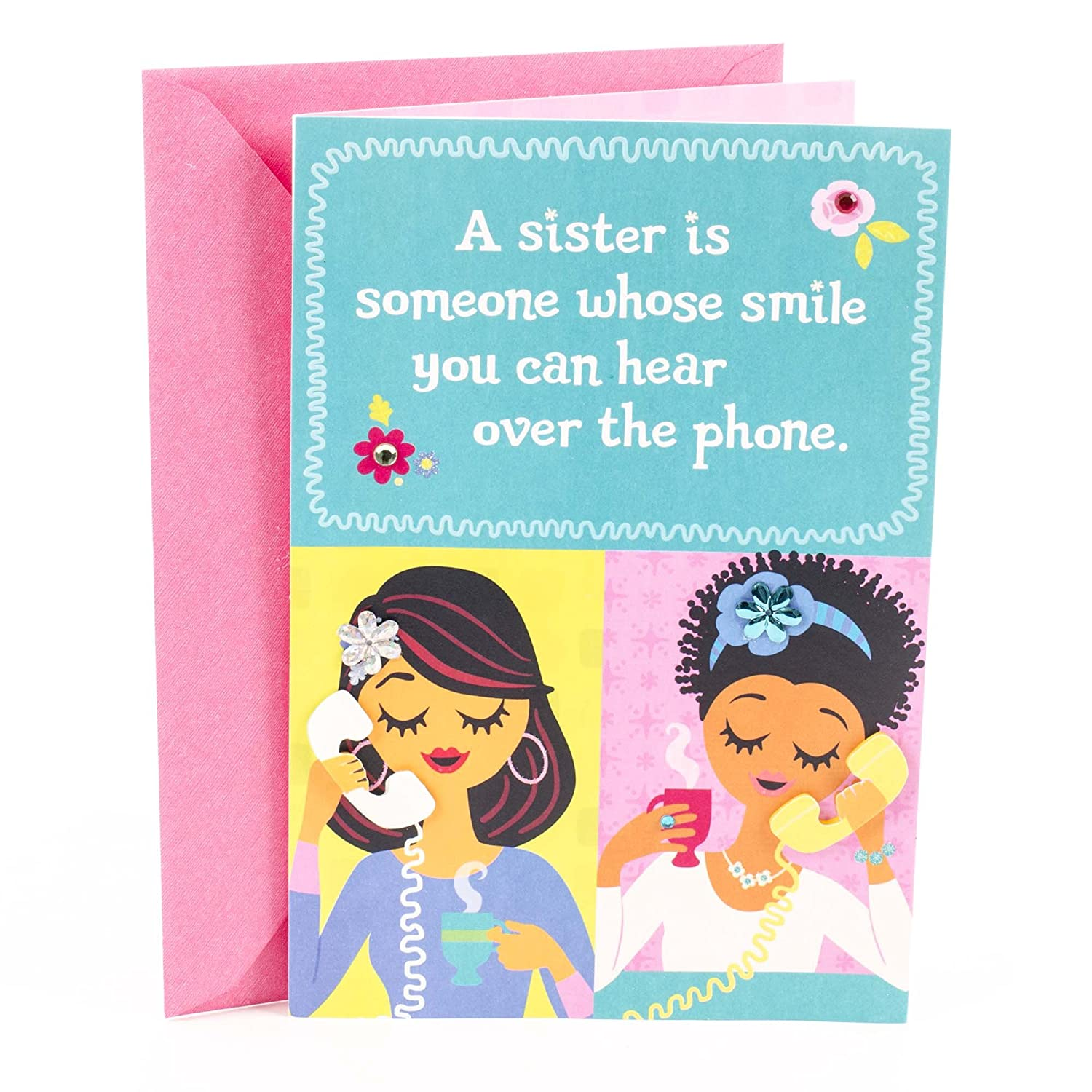 Amazon Hallmark Mahogany Birthday Card For Sister Favorite People Office Products