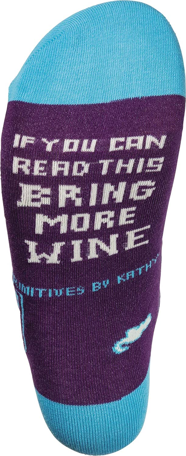 Primitives by Kathy LOL Made You Smile Silly Socks, Bring More Wine: Home & Kitchen