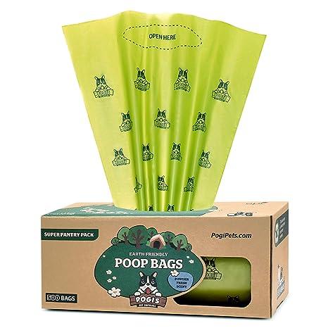 Pogis Poop Bags - Bolsas para excremento de Perro - 500 Bolsas para despensas y Estaciones de residuos al Aire Libre - Grandes, Biodegradables, ...